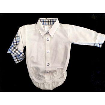 Body Koszula Wstawki Krata Artex 92-98