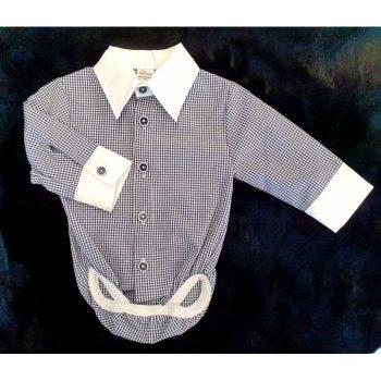 Body Koszula Granatowa Krata Artex 92-98
